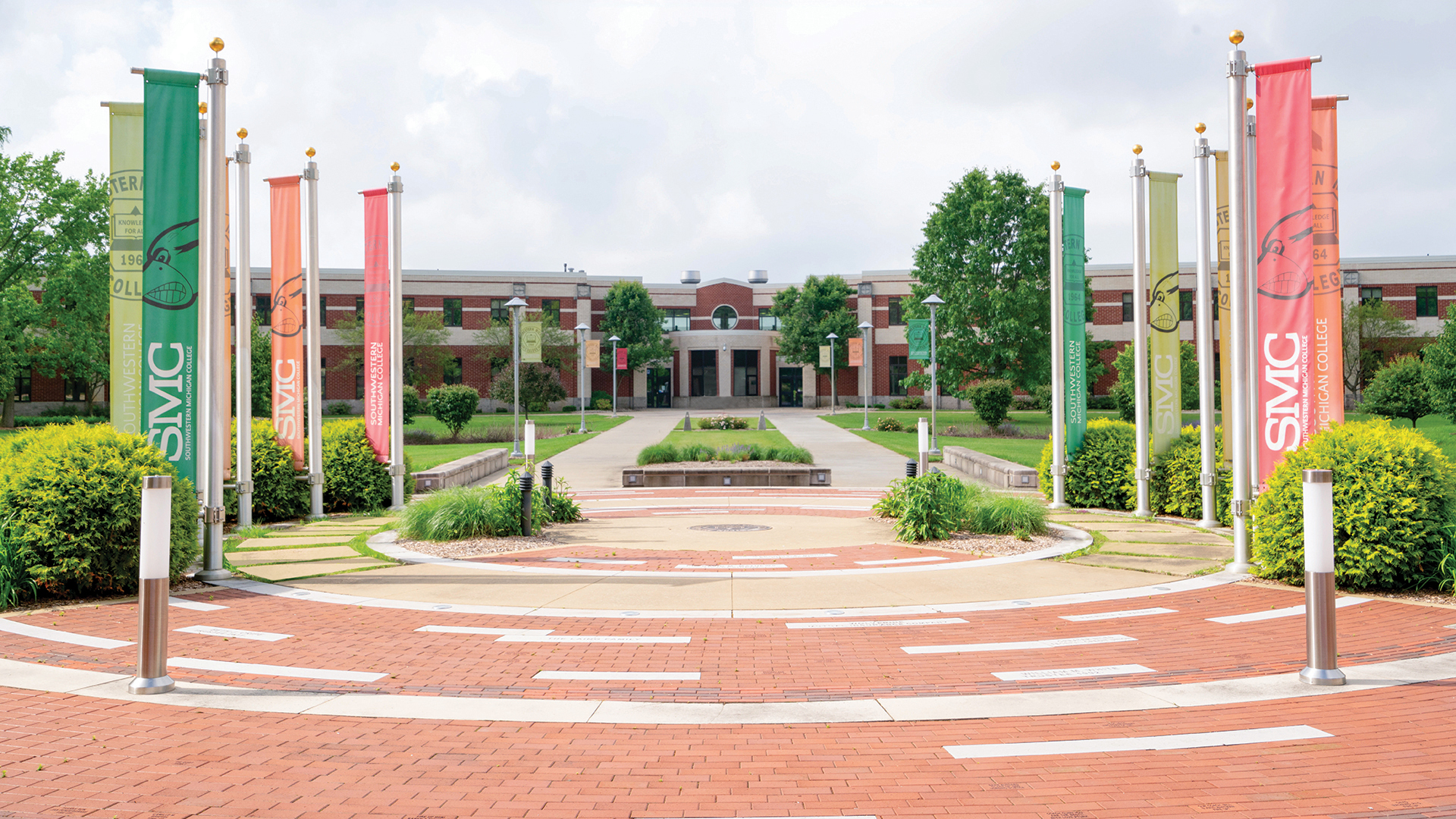 Alumni Plaza the center of the Dowagiac campus